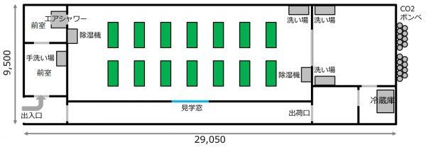 東京都板橋福祉工場 装置レイアウト